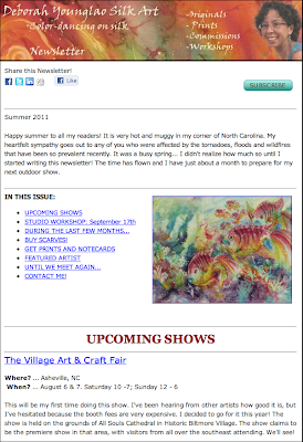 Deborah Younglao Silk Art Newsletter