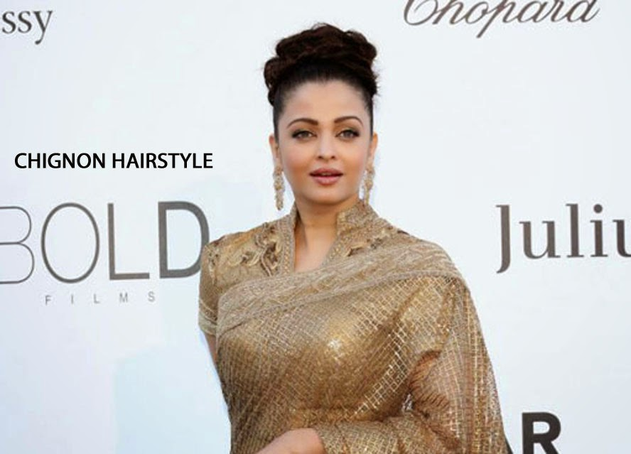 Aishwarya Rai with Chignon Hairstyle