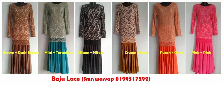 Baju Lace pattern baru (warna lace n inner berlainan)