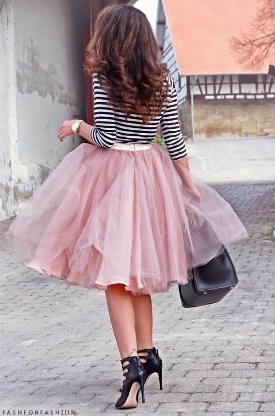 saias da moda, roupas femininas, saia tule rosa