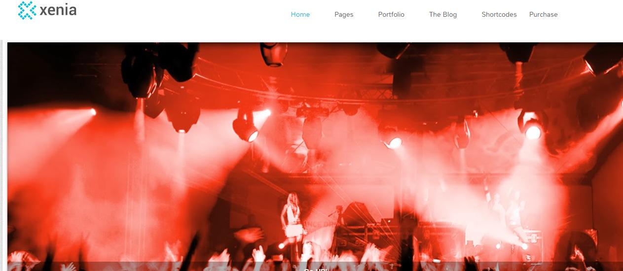 Download Xenia Portfolio Blogger Template