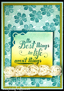 The Best Things Card by Stampin' Up! Demonstrator Bekka Prideaux