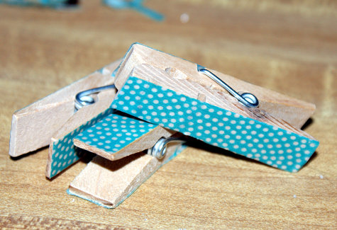 DIY Handmade Washi Tape Clothespins Craft Project
