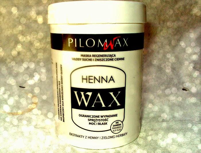 Laboratorium Pilomax, Henna Wax, Regenerująca maska do włosów ciemnych