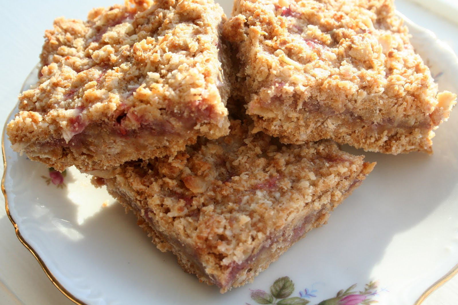 Grain Crazy: Whole Grain Raspberry Oatmeal Bars