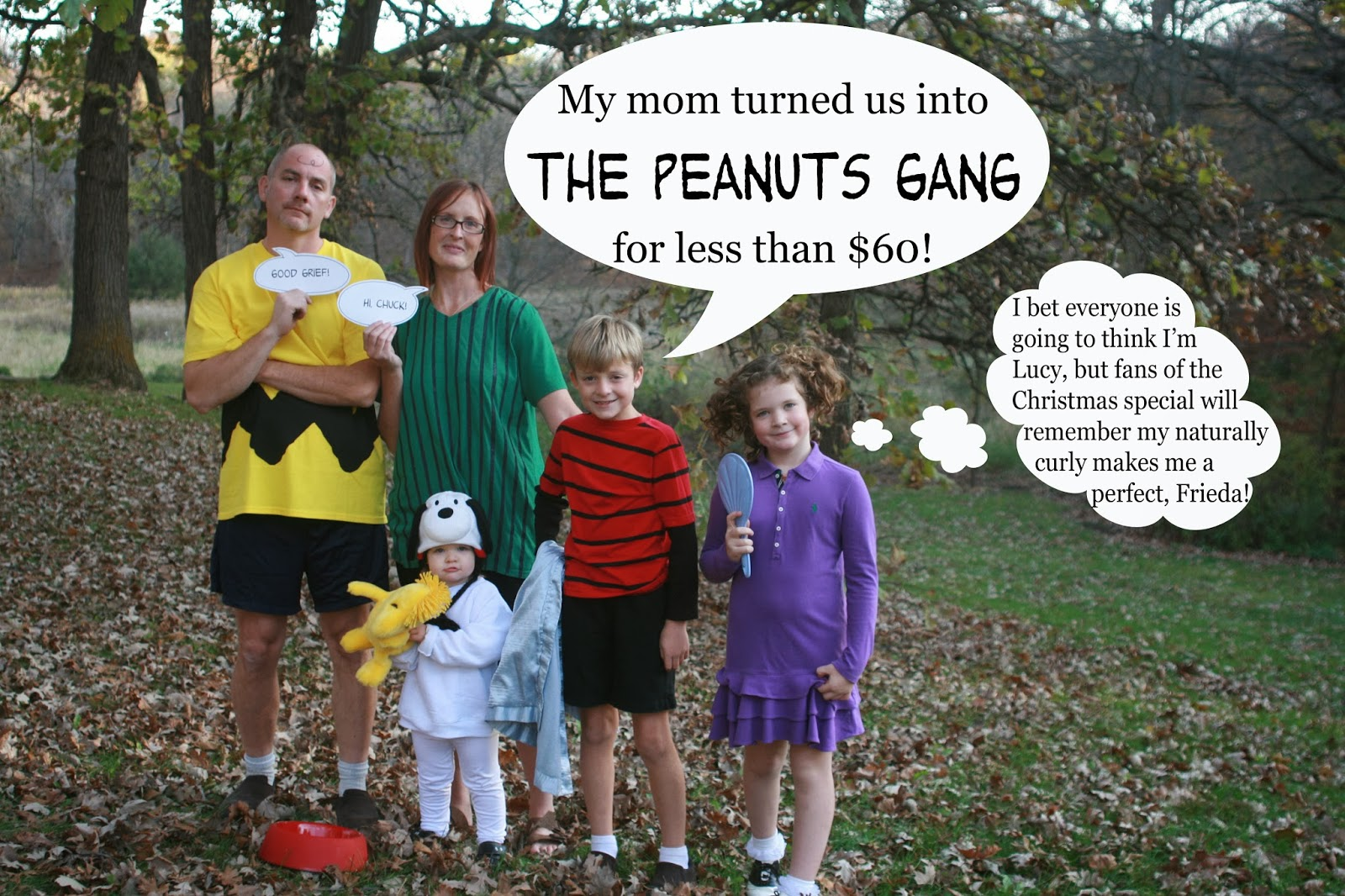raising cubs in a campground: homemade halloween - the peanuts gang