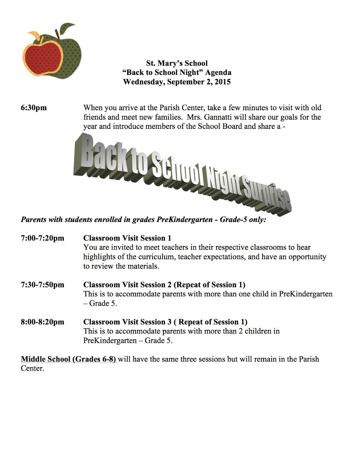 Saint marys school news announcements august 2015 parentteacher conferences in november friday 94 school mass at 9am all are welcome no physical education uniforms should be worn to mass altavistaventures Images