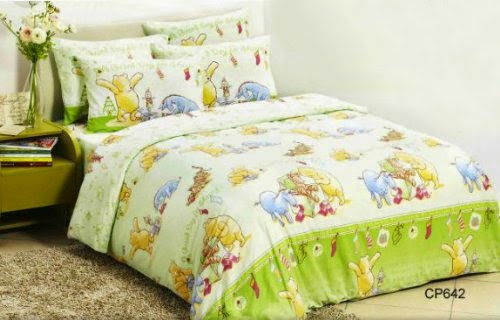 Disney Classic Winnie The Pooh Fitted Bed Sheet, Pillow Case & Duvet Cover