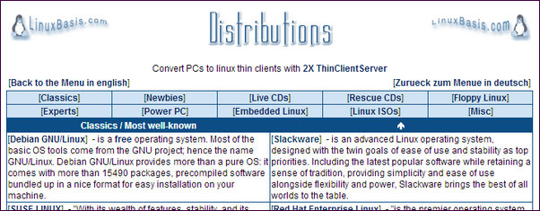 linux-basis-distributions-database
