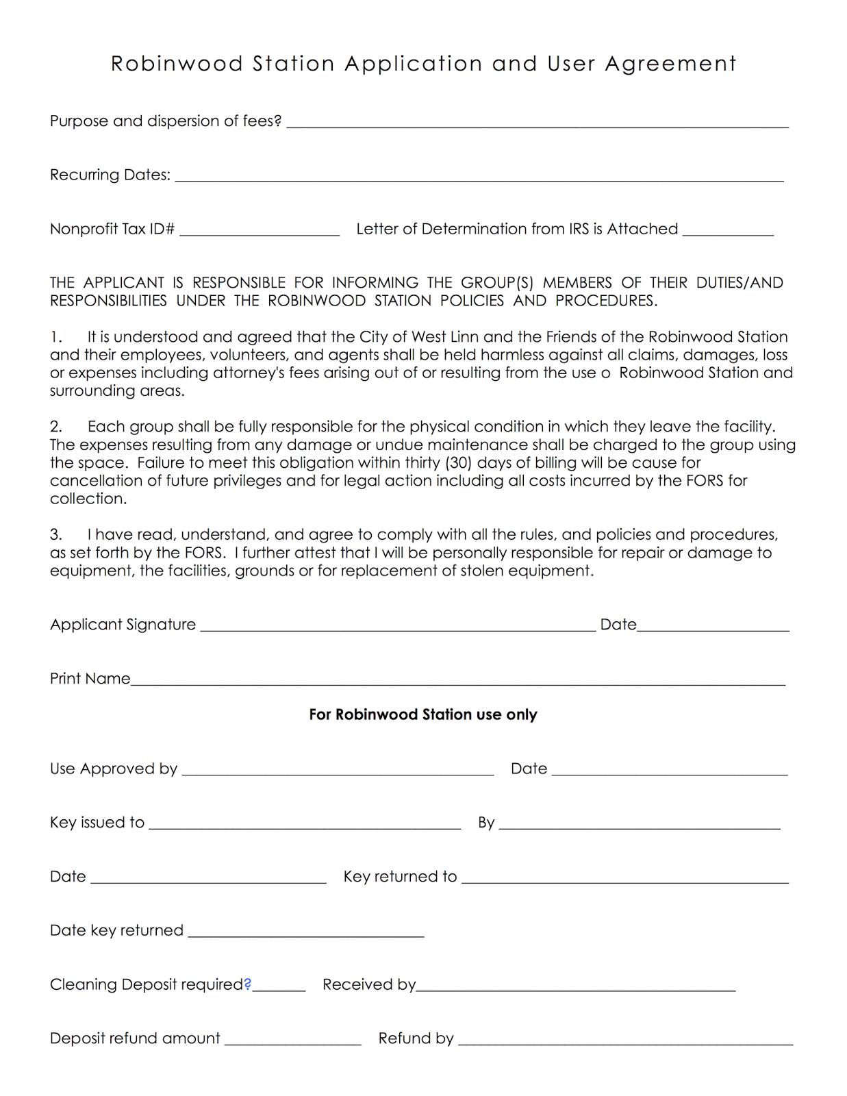 Storage Facility Storage Facility Rental Agreement
