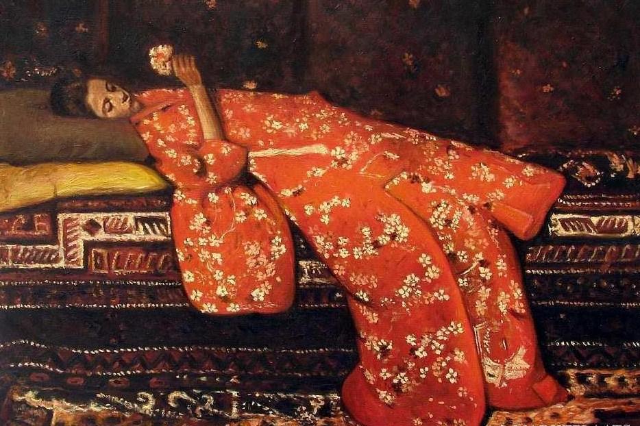 japonisme george breitner red kimono