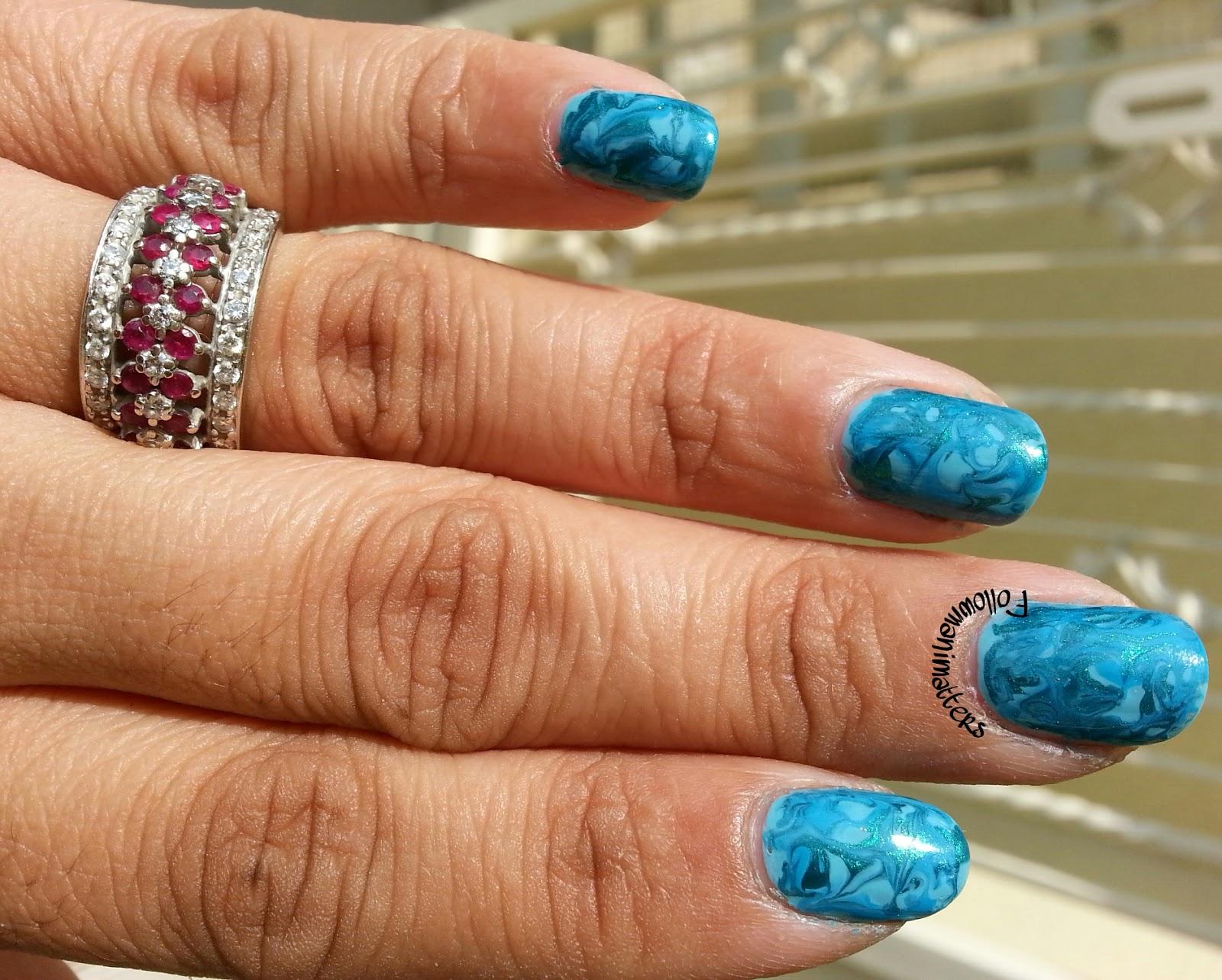 Manishas Followmanimatters Dry Marble Nails