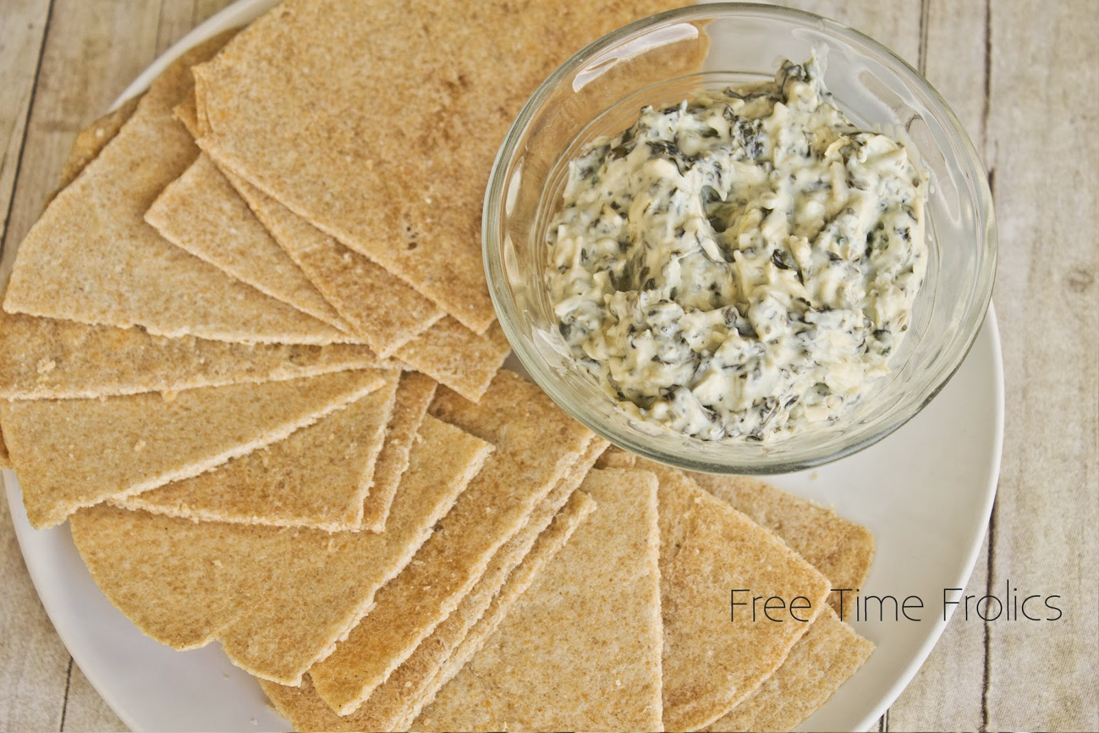 whole wheat dipping chips www.freetimefrolics.com #recipe #homemade