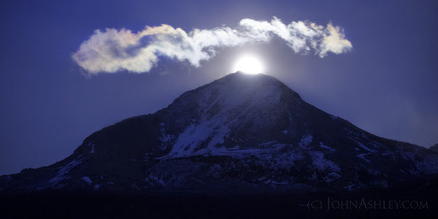 Moonrise over Divide Mountain (c) John Ashley