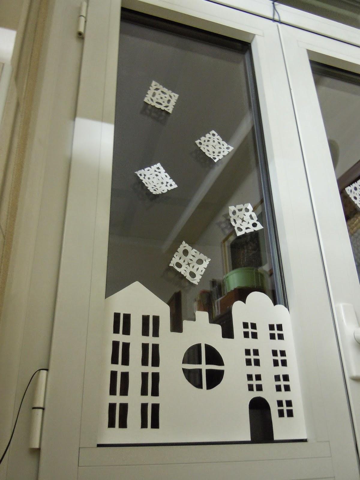 Gioka con leo addobbo natalizio per finestre for Decorazione finestre