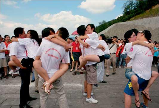 Lomba Berciuman Paling Hot di China