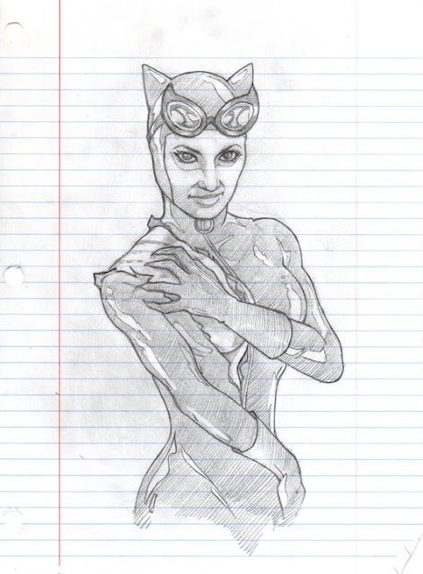 Final Catwoman Pencil Drawing