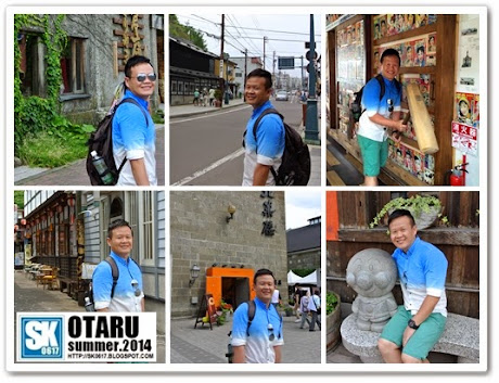 Otaru Japan - Posing for more photos in Sakaimachi Area