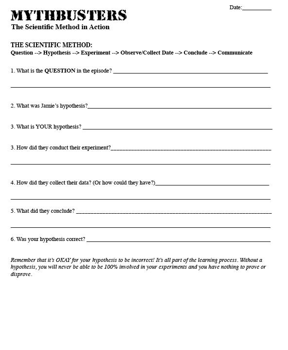 Scientific Method - 6 Steps Worksheet | Scientific method ...