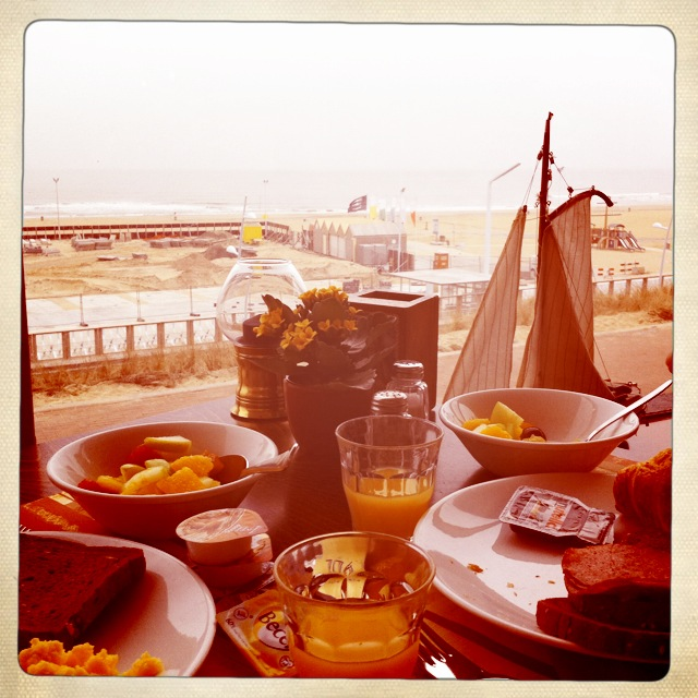 breakfast in the hotel  - sea view - Hague