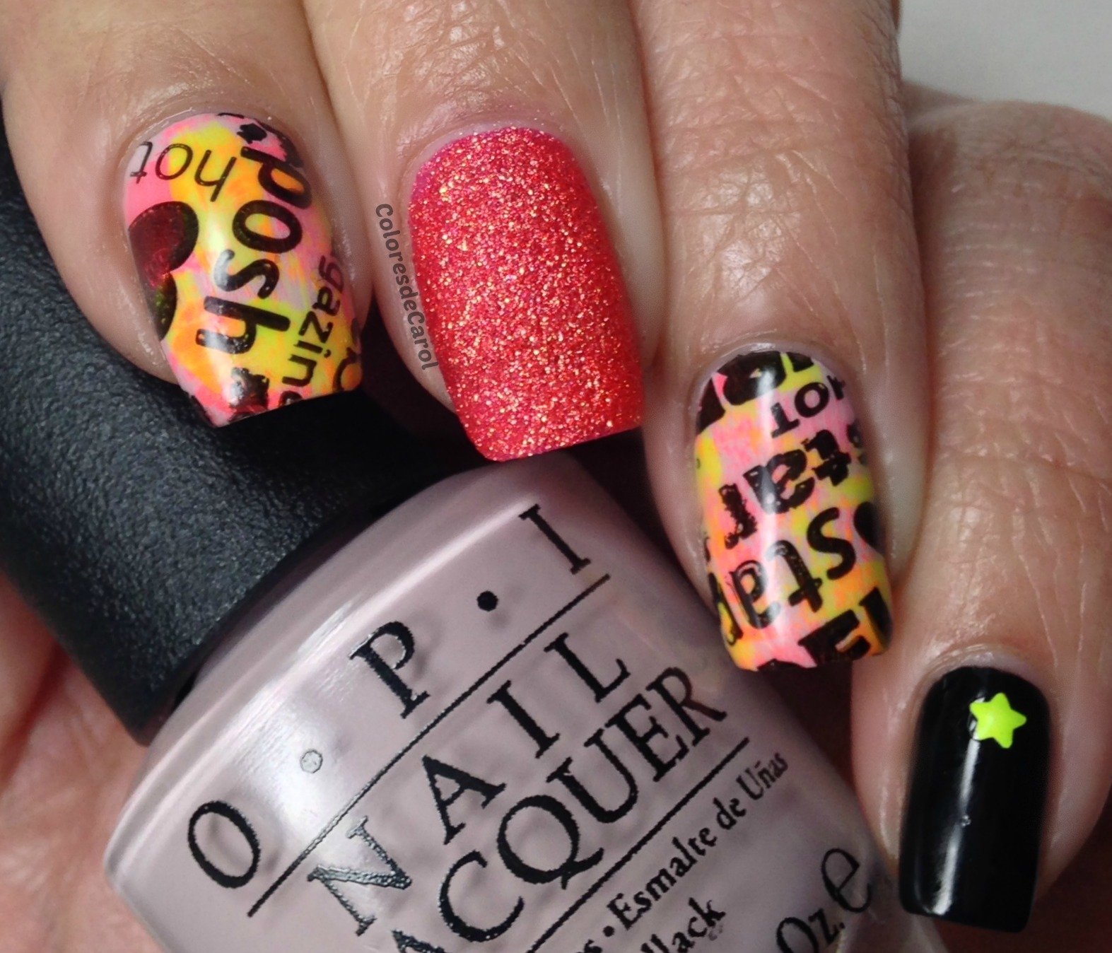 Colores de Carol: Skittlette Stamped Nails
