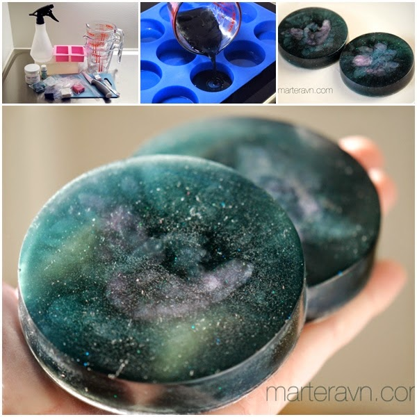 DIY Galaxy Soap