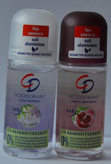 Kosmetyki CD- dezodoranty w kulce owoc granatu oraz lilia wodna