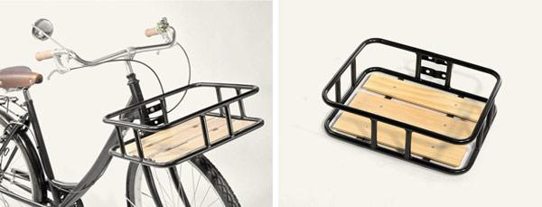 Accesorio con madera Flat Wood: portaequipajes delantero para que puedas cargar en bicicleta de paseo