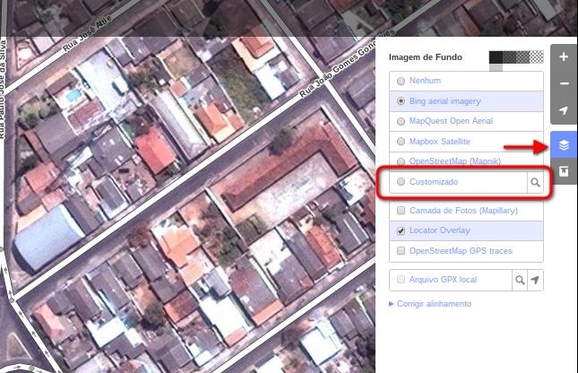 Usando o mapa de ruas do IBGE