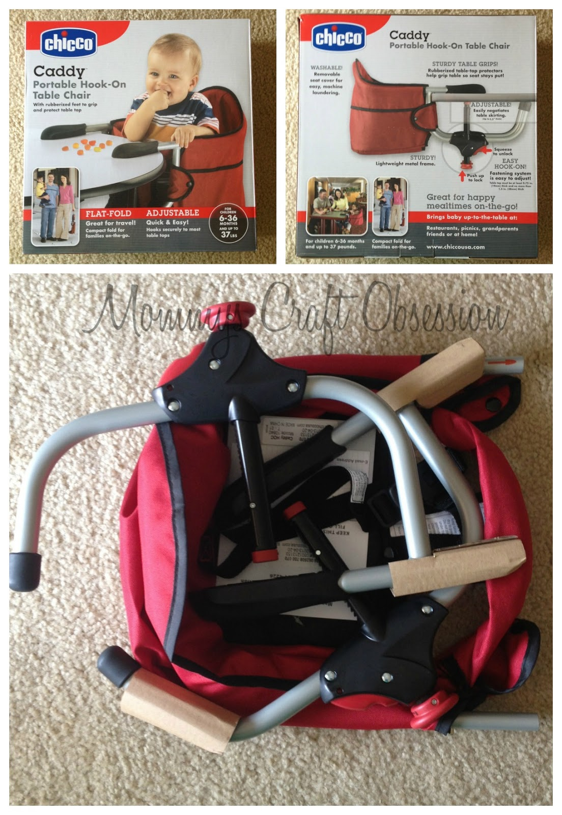 & Mommyu0027s Obsessions: Chicco Caddy Hook-On High Chair Review u0026 Giveaway!