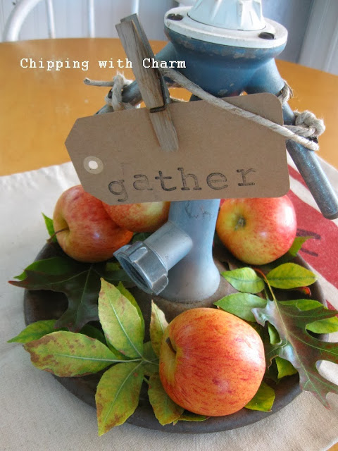 Chipping with Charm: Vintage Sprinkler Centerpiece...http://www.chippingwithcharm.blogspot.com/