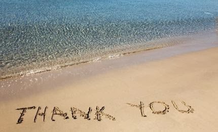 beach shore sea,thank you word written on sand,Summer of Gratitude CONTEST
