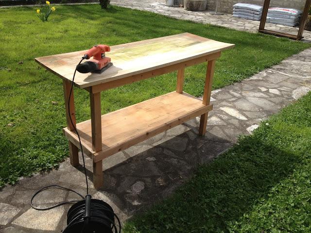 r novation d 39 un ilot ou tablis fait maison mes r novations de meubles en bois. Black Bedroom Furniture Sets. Home Design Ideas