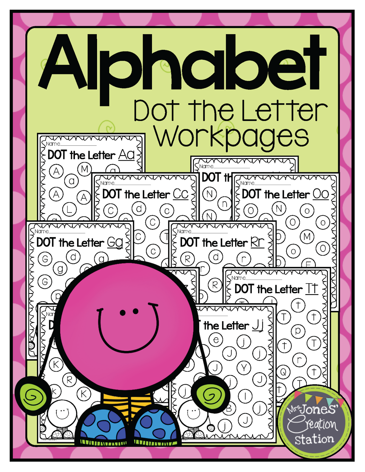 http://www.teacherspayteachers.com/Product/Alphabet-Dot-the-Letter-Workpages-1210545