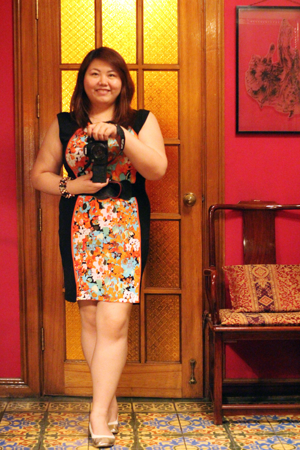 Plus Size Clothes in Manila, SM Jus My Size, Black and Orange Illusion Dress, Plus Size Illusion Dress, Gold Foldable Flats, Plus Size Floral Dress