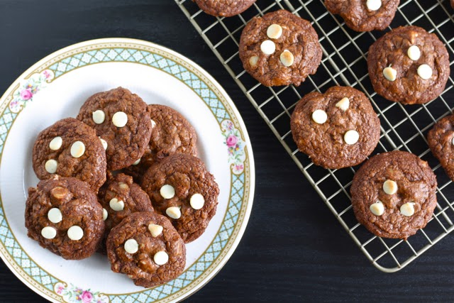 White Chocolate Macadamia Brownie Cookies