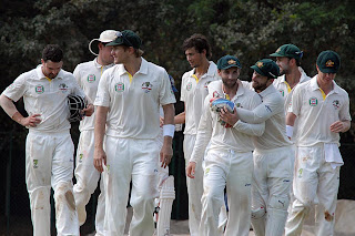 Australian-celebrate-a-wicket-picked- up-by-Ashton-Agar-India-A-v-Australians-2nd-day-Chennai-February-17-2013