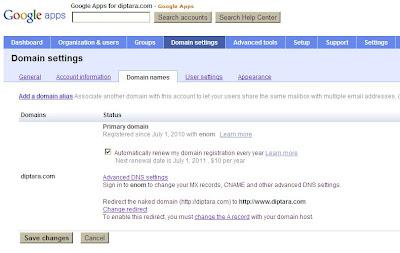 renewal domain otomatis