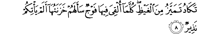 Surat Al-Mulk Ayat 8