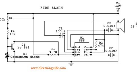 Fire    Alarm    Circuit       Diagram     The    Circuit