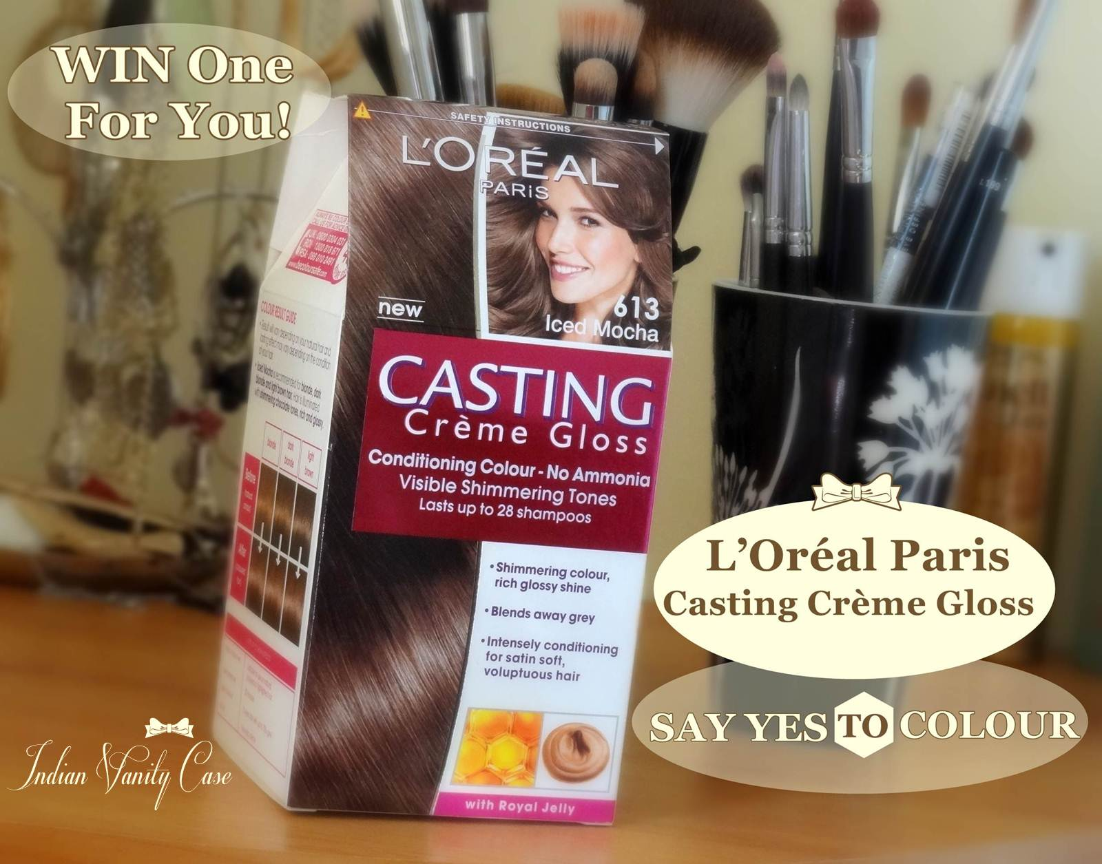 Indian Vanity Case Win Loral Paris Casting Crme Gloss Hair Color