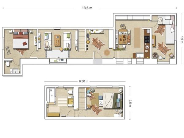 Speciale natale una vecchia casa colonica in spagna for Planimetria casa tradizionale giapponese