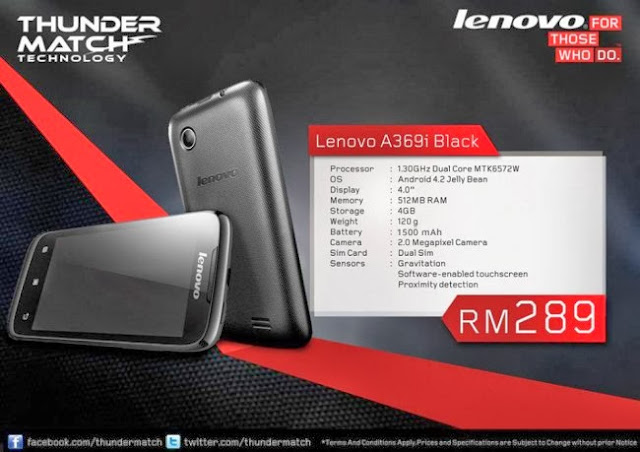 Lenovo A369i With Android 4.2 Jelly Bean On Price RM289