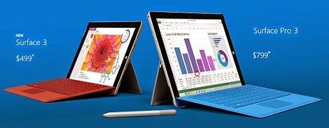 Microsoft | Surface | Surface 3 | Surface Pro 3 | Windows | Tablet | Laptop | Ultra-portable