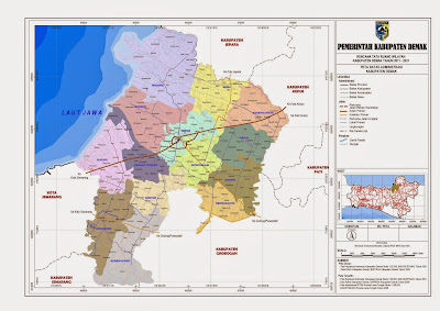 Peta Batas Administrasi Kabupaten Demak