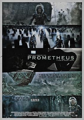 Prometheus, fake poster, art, Noomi Rapace, Ridley Scott, Michael Fassbender