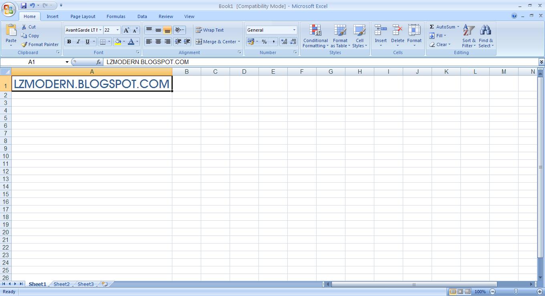 Screenshot Microsoft Excel