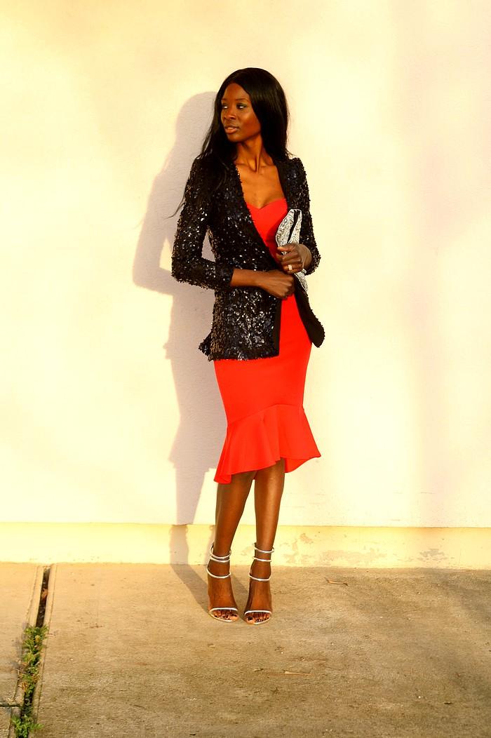 tenue-fete-robe-reveillon-blazer-sequins-paillettes