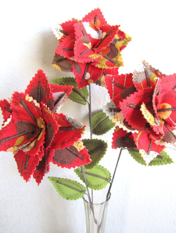 make by hand these precious flowers and fabric plants they have shop