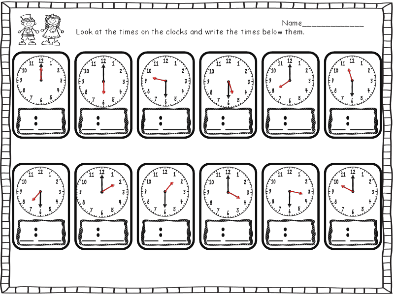 how to teach 24 hour clock